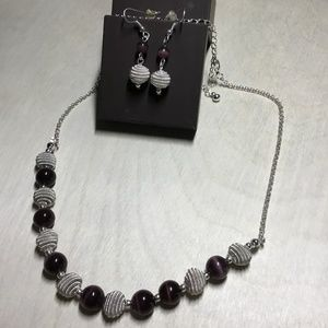 Lia Sophia Necklace & Earrings Set